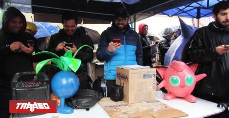 Chilenos en Pokémon GO! realizaron colecta en medio de la lluvia por Community Day