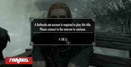 Mod de Skyrim se burla ahora del insistente login en juegos de Bethesda