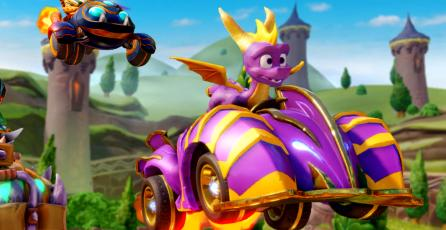Así se ve Spyro en <em>Crash Team Racing Nitro-Fueled</em>