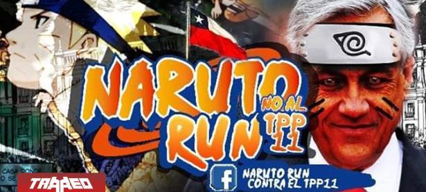 Chilenos protestarán contra el acuerdo TPP-11 corriendo como Naruto