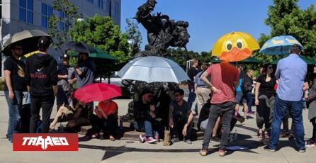 Trabajadores de Blizzard protestan fuera de oficinas en apoyo a Hong Kong