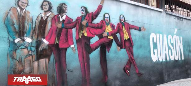 Mural de Joker pintado en Santiago causa sensación