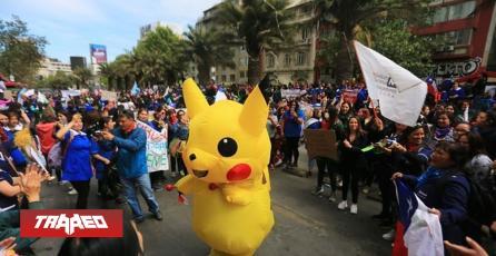 ''Baila Pikachu'' se convierte en símbolo de las protestas de Chile