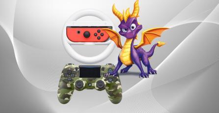 Ofertas de la semana: <em>Spyro</em>, DualShock 4 y volante para Nintendo Switch