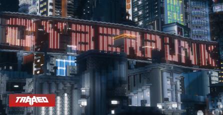 Fanático recrea el mapa de Cyberpunk 2077 en Minecraft bloque a bloque