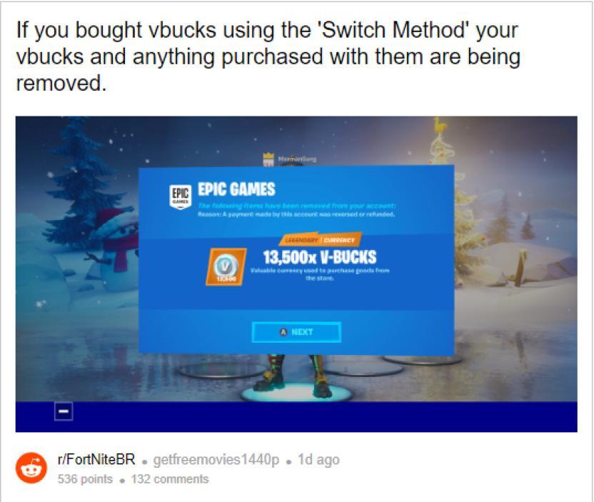 No Puedo Vincular Mi Cuenta Fortnite En Epic Games Cuidado Epic Podria Eliminar Tus Pavos De Fortnite Por Esta Razon Levelup