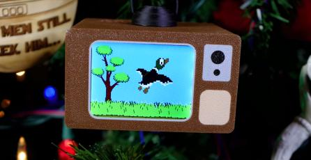 Fan crea versión de <em>Duck Hunt</em> que puede jugarse en el árbol de Navidad