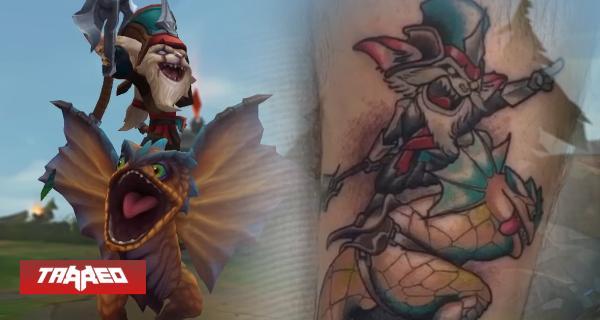 Fanático se tatúa a Kled de League of Legends tras alcanzar 650 mil puntos de Maestría
