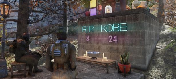 Jugadores de <em>Fallout 76</em> rindieron un emotivo homenaje a Kobe Bryant
