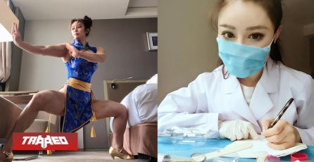 Cosplayer de Chun-Li también trabaja tratando pacientes con coronavirus