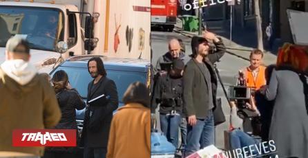 The Matrix 4: Aparecen las primeras imágenes de Keanu Reeves en el set de grabación