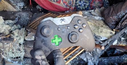 Se incendia la casa de un jugador y su control de Xbox One sobrevivió