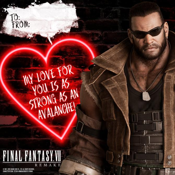 Declara tu amor con <em>Final Fantasy VII Remake</em>