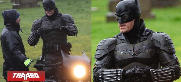 Nuevas fotos del traje de The Batman y sendo blooper en la Batimoto
