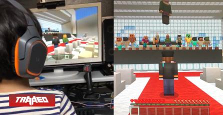 Niños se gradúan en Minecraft al ser cancelado evento por el coronavirus