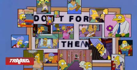 """""""Hazlo por ellos"""": La imagen que concientiza Cuarenta con captura de Los Simpsons"""