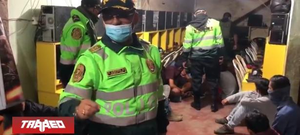 Policía peruana interviene LAN center de doteros por no acatar la cuarentena