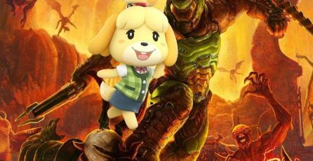 Mira a Isabelle y al DOOM Slayer combatiendo feroces demonios