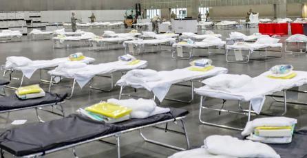 El recinto donde se celebra E3 se transformó en un hospital ante el coronavirus