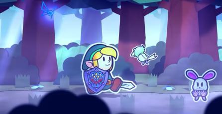 Así de fantástico podría verse un <em>Zelda</em> con el estilo artístico de <em>Paper Mario</em>