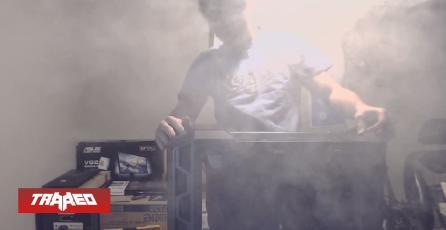 Streamer arma su primer PC y termina incendiandolo