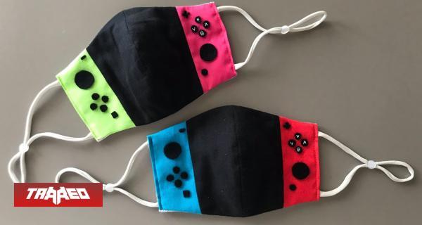 Crean mascarillas con diseño de Nintendo Switch