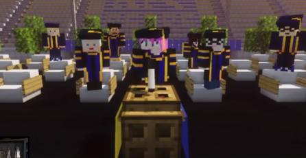 Estudiantes de California celebran su graduación en <em>Minecraft</em>