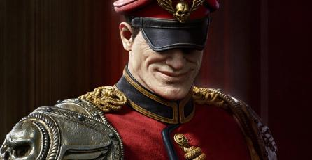 Así es M. Bison, el villano de <em>Street Fighter</em>, al estilo de un artista de <em>God of War</em>