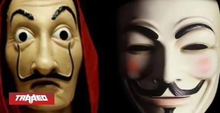 """Adolescentes en Twitter creen que Anonymous copió la máscara a """"La Casa de papel"""""""