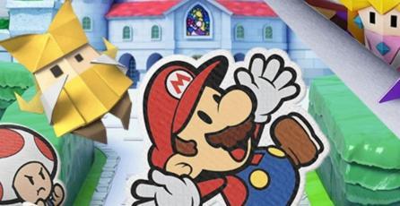 Mira este genial panfleto de <em>Paper Mario: The Origami King</em>