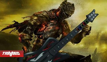 Completa Dark Soul 3 sin daños y con una guitarra de Guitar Hero