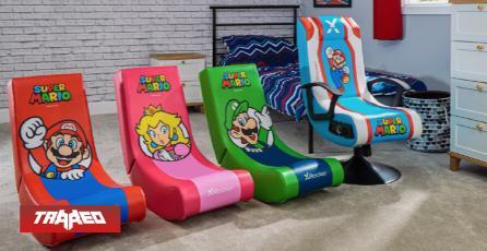 Nintendo y X Rocker lanzarán sillas inspiradas en los personajes de Super Mario Bros.