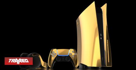 Preparan una muy limitada edición de PlayStation5 bañado en oro de 24K