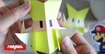 Nintendo te enseña a hacer sus personajes en Origami tras estreno de Mario Paper