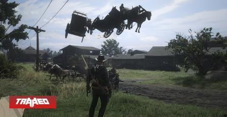 Glitchs y Bugs en Red Dead Online causan caballos voladores y lluvia de caimanes