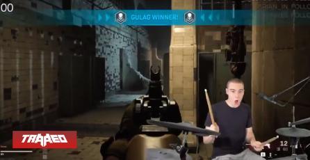 Streamer consigue ganar el Gulag en COD: Warzone tocando una batería