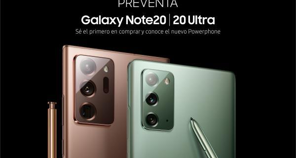 El 27 de agosto comienza la preventa del Galaxy Note20