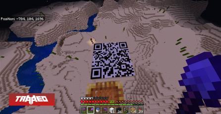 Jugador en Minecraft crea gigantesco QR solo para decepcionar a los curiosos