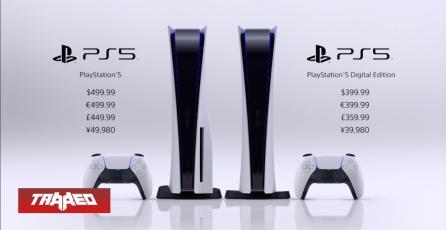 PS5 costará $499 dólares en su versión estandar y $399 la digital