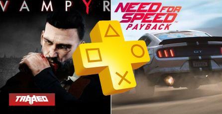 Need for Speed: Payback y Vampyr serán los juegos gratis de PlayStation Plus para octubre