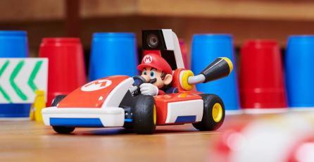 Así de fácil será crear circuitos en <em>Mario Kart Live: Home Circuit</em>