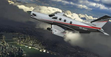 Modder transforma un rascacielos en un PS5 en <em>Microsoft Flight Simulator</em>