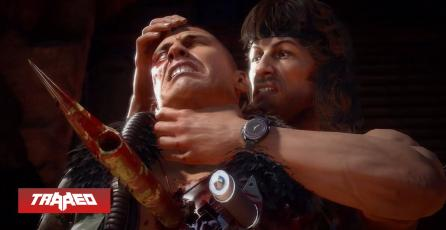 Revelan primer Gameplay de Rambo en Mortal Kombat 11