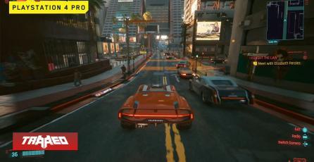 Cyberpunk 2077 en PS4 Pro le da pelea a PS5