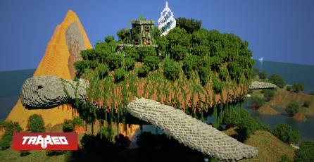 Fan construye una tortuga voladora gigante en Minecraft y sinceramente, luce fenomenal