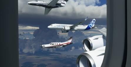 Simulan vuelo real en <em>Microsoft Flight Simulator</em> y el resultado es muy preciso