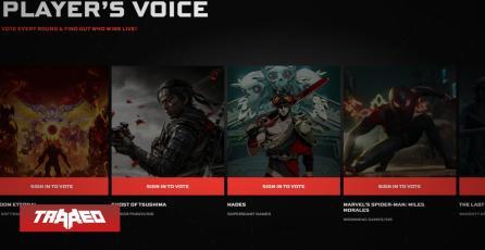 Ghost of Tsushima supera a The Last of Us Part II en votación del público en The Game Awards, pero algunos lo atribuyen a un hackeo