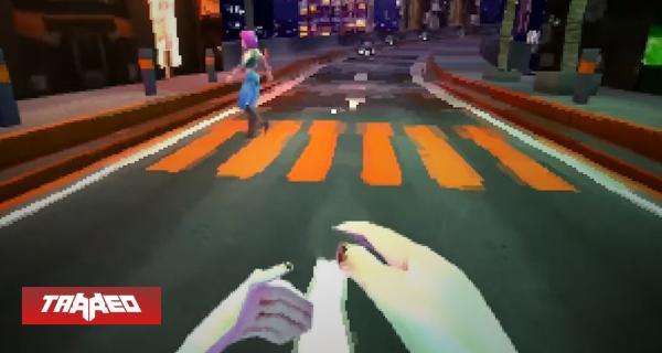 Así luce Cyberpunk 2077 en PS1, con bugs y todo incluidos