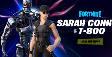 Fortnite - Sarah Conner & T 800 arriban a la isla