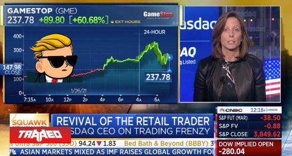 CEO de Nasdaq recomienda detener comercio de acciones de Gamestop para permitir a inversores adaptarse a oleada de compras de Reddit